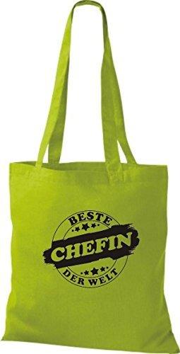ShirtInStyle Bolso de tela Bolsa de algodón Mejor CHEFIN der Welt Kiwi