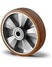 Polyurethaan wiel 200 mm voor hefwagens met kogellager boring 20 (200-20-47)