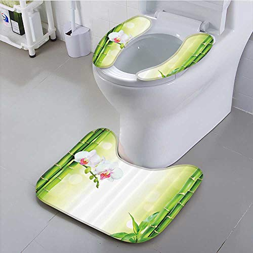 Auraisehome - Asiento universal para inodoro Zen Stes AroMat ic Candles and Orchids Blooms Treatment Vacati Bathroom...