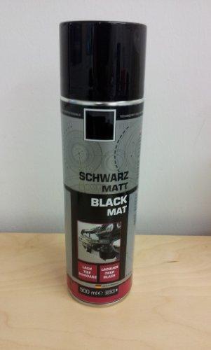 500ml Felgenlack Lackspray Schwarz Matt Ral 9005 Profiware von MD