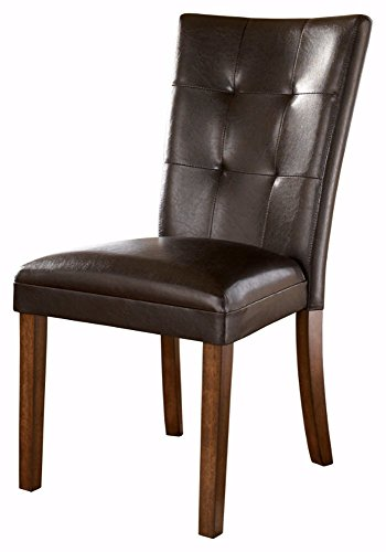 Ashley Furniture Signature Design - Lacey Dining Side Chair - Set of 2 - Medium Brown Finish by Signature Design by Ashley