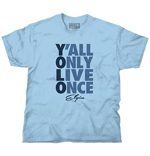 Brisco Brands YOLO You Only Live Once Elgin, IL Gift Funny Picture Shirts T Shirt -