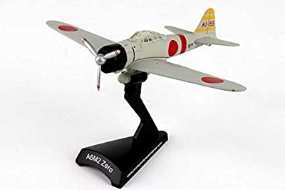 Daron Postage Stamp PS5343-3 Mitsubishi A6M Zero Ijnas Carrier Akagi 1941 1:97 Scale Diecast Display Model With Stand