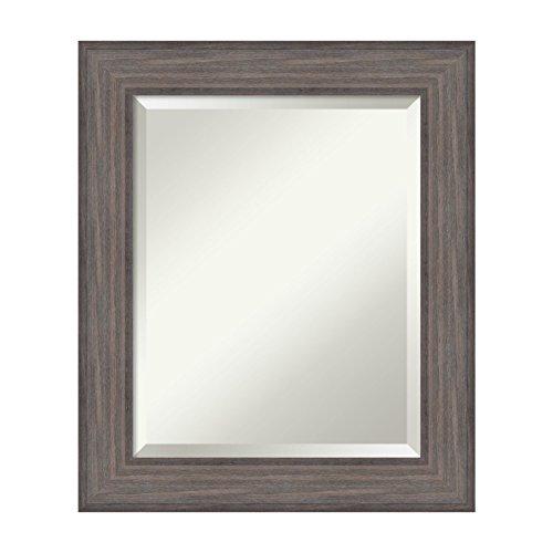 Cheap Amanti Art Country Barnwood Wall Mirror, Medium, Brown