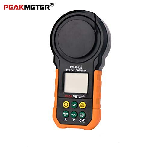 PEAKMETER LED Digital Analog Bar Light Lux Meter 200000 lux Handheld Light Meter for Light Measuring PM6612L