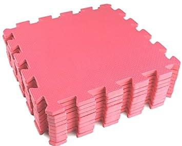 10 Piece Pink Interlocking Soft Kids Baby EVA Foam Activity Play Mat Floor Tiles FunkyBuys