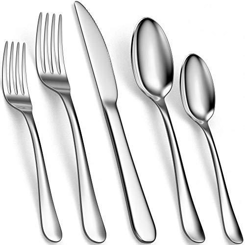 Tribal Cooking Silverware Set – Stainless Steel Flatware, Utensil, Cutlery Set – Silverware Sets – Knives, Fork and…