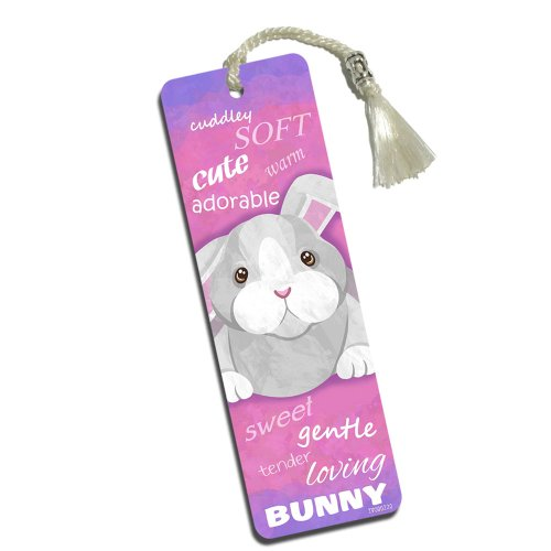 Bunny Rabbit Printed Bookmark with Tassel