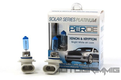 (PERDE Xenon 9006 Headlight Light Bulbs Diamond White 6000K for 1999 Volkswagen Cabrio Early Model)