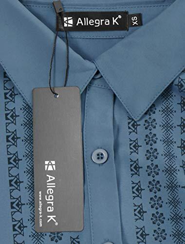 Chemise Carreaux Col Manches Impression Blue Allegra Femmes K Longues Tunique Point 7g0nqBw