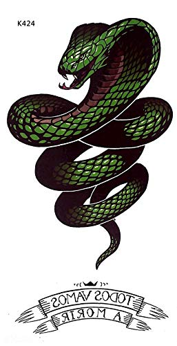 Tatuaje de serpiente para fiestas y festivales K424: Amazon.es ...