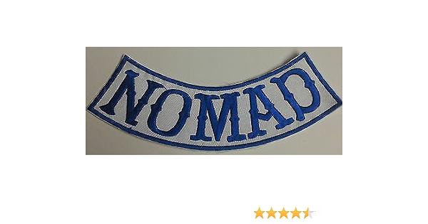 "Blue Nomad Outlaw Biker Club Group MC Back Bottom Rocker Patch New 9/"""