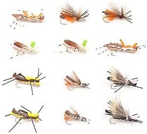 Size 10 2 Flies GREEN YELLOW GRAY FOAM HOPPER Terrestrial  Fly Fishing Flies
