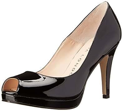 Sacha London Women's Tess Platform Pump, Black Patent Leather, 8.5 M US