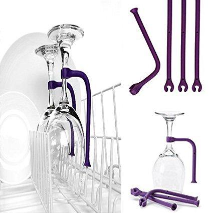Tether Stemware Saver flexible dishwasher 4 sets for Wine Glass Dishwasher Holder (4) - Indispensable Coffee Dispenser