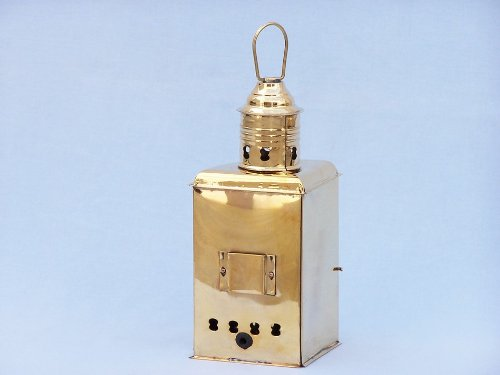 Port and Starboard Oil Lantern (Set of 2) Finish: Solid Brass by Handcrafted Model Ships (Image #3)
