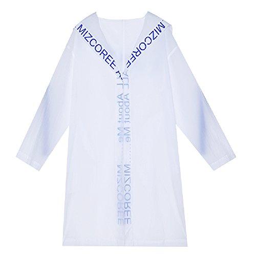 QFFL fangshaifu スリムルーズ夏ファッション日保護服/女性ロングセクション印刷カーディガン/学生純粋な色屋外サンスクリーンショール (サイズ さいず : Xl xl)