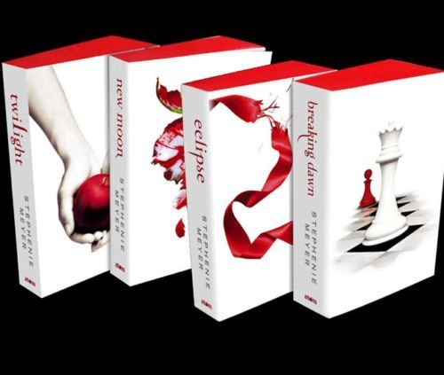 Twilight Saga White Editions 4 Books Twilight, New Moon, Eclipse & Breaki by Atom