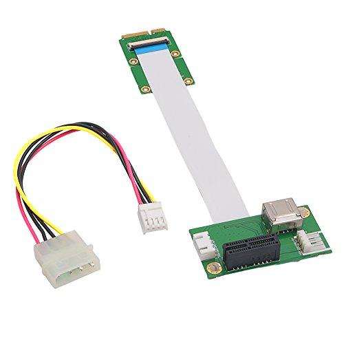 RingBuu Express PCI-E to PCI-E Mini 1X Extension Cord Adapter Card with USB Riser Card by RingBuu (Image #1)