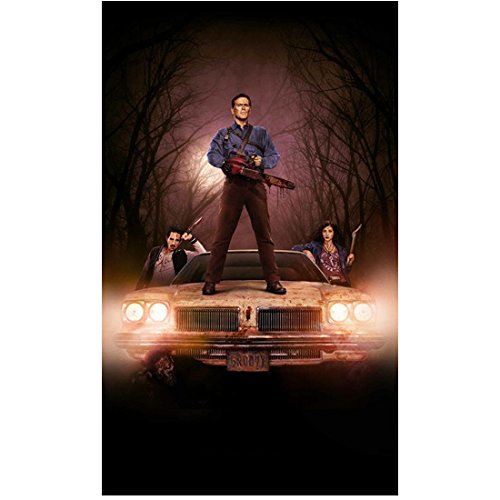 Santiago Tops (Ash vs Evil Dead Bruce Campbell on top of Delta with Ray Santiago and Dana DeLorenzo 8 x 10 Inch Photo)