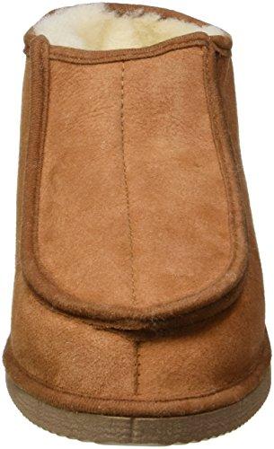 Kaiser colore pelliccia prodotti 744100146 casa scarpe con velcro chiusura cognac, taglia 46