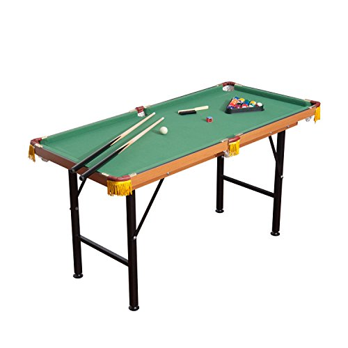 HomCom Folding Miniature Billiards Pool Table w/ Cues and Balls