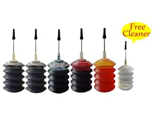 Free printhead Cleaner: 5x30ml ND Brand Premium Dye ink refill kit for HP 61 61XL and HP Deskjet 1000, 3000 series inkjet printers