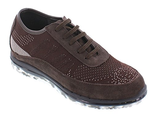 Toto D22035-2.4 Inches Taller - Height Increasing Elevator Shoes - Brown Fashion Sneakers