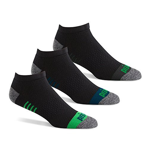 Prince Men's Performance Plus No Show Low Cut, Black Assortment, 6-12, 3- Pack
