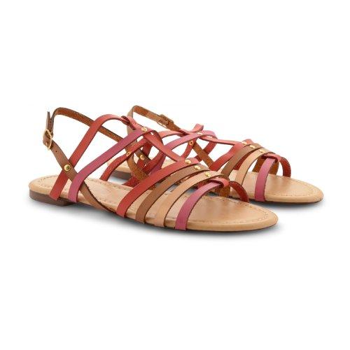 Footwear Sensation - Sandalias de vestir para mujer marrón marrón marrón - Red Fuchsia