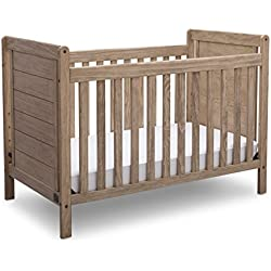 Serta Cali 4-in-1 Convertible Crib, Rustic Whitewash