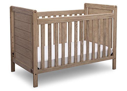 Serta Cali 4-in-1 Convertible Baby Crib, Rustic Driftwood