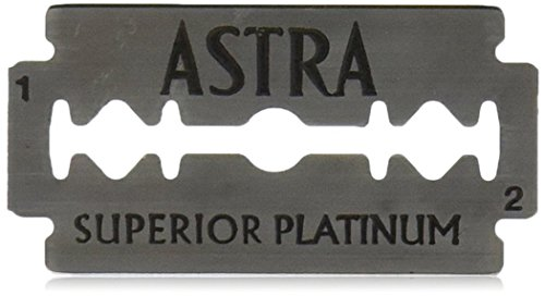 Astra Platinum Double Edge Safety Razor Blades ,100 Blades (20 x - Cartridge Refills Wax
