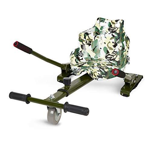 ECOXTREM Hoverkart, Asiento Kart, Multicolor Oliva diseño Pintura, con manillares Laterales, Barra Ajustable. Accesorio para patinetes eléctricos ...
