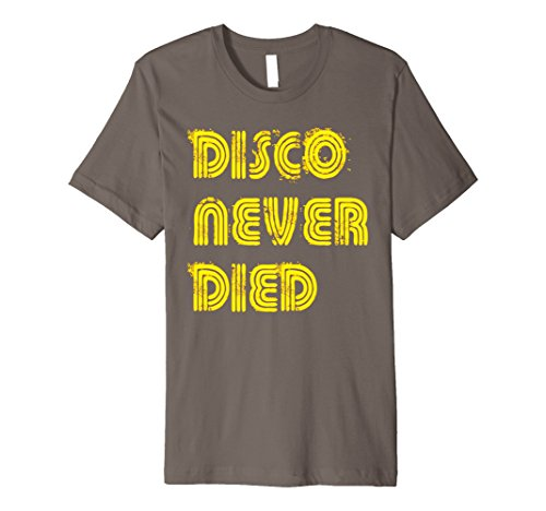 Mens Disco Never Died T-shirt Vintage Retro Neon Light Funky Tee 2XL (Funky Retro T-shirts)