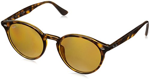 Ray-Ban Mens RB2180F Sunglasses Dark Light Havana / Polar Brown 49mm