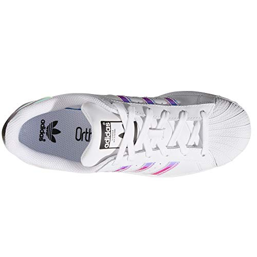 Original Para Superstar Autentic Mujer White Adidas Blancas iris De shiny Piel Sneakers BpAxw