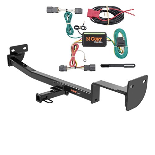 CURT Class 1 Trailer Hitch Bundle with Wiring for 2015-2016 Kia Soul - 11419 & 56220 ()