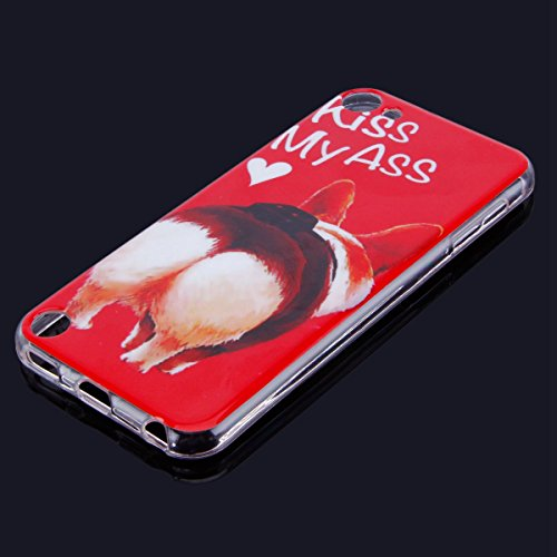 Funda iPod touch 6,SainCat Moda Alta Calidad suave de TPU Silicona Suave Funda Carcasa Parachoques Diseño pintado Patrón para Funda TPU Silicona Flexible Ultra Delgado Ligero Goma Case Cover Caja Suav Culo