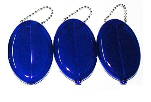 Plastic Squeeze Coin Purse (3 Blue Coin Purses)