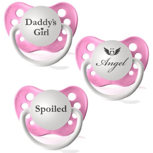 Personalized Pacifiers Daddy's Girl, Angel & Spoiled Baby Pacifier