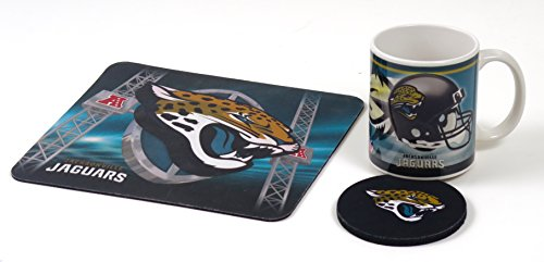 Jacksonville Jaguars Computer Workstation Set Includes Coffee Mug, Neoprene Mouse pad and oaster. (Mouse Pad Mug Coffee)