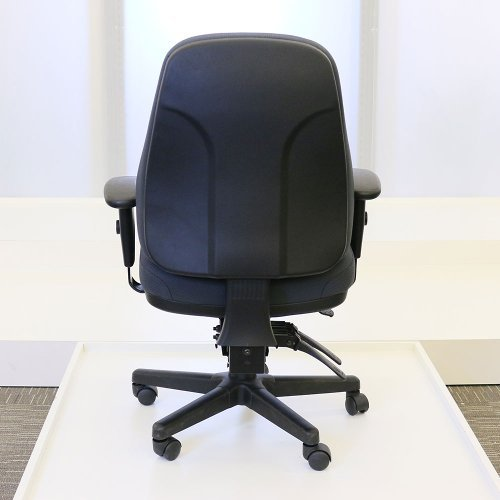 Eurotech Seating 24/7 Collection Heavy Duty Ergonomic Task Chair, Black Fabric