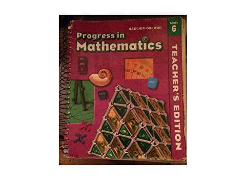 Progress in Mathematics, Grade 6,  Teachers's Edition