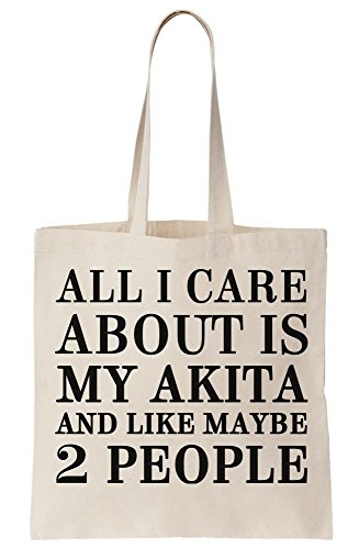 My Akita And Like Maybe 2 People Canvas Tote Bag ()