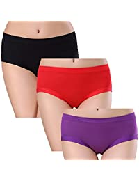 Jeonny Fashion Women Menstrual Period Protective Briefs Leak Proof Underwear 3 Packs