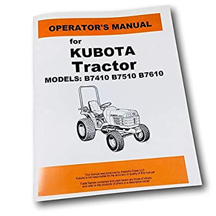 Amazon.com: Kubota B7410 B7510 B7610 - Manual de ...
