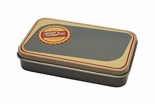 NickelBox - Top Quality Pocket Size tin Container Nickel Box Tobacco case Pouch (Classic Blue-Grey)