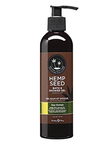 Earthly Body Bath & Shower Gel Hemp Seed Nag Champa 8 (Hemp Gel Shampoo)