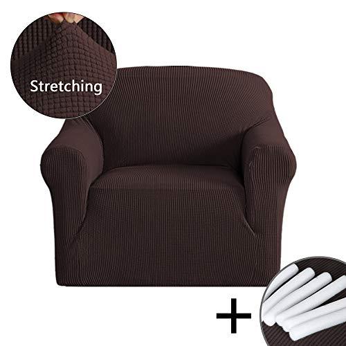 PrimeBeau One-Piece Jacquard Stretch fit Chair Size Slipcove